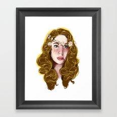 Flowers In Your Hair.... Framed Art Print