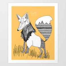 Feeling Foxy Art Print