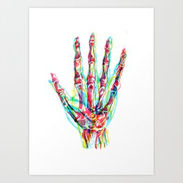 RYB Hand Art Print