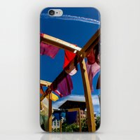 fabric iPhone & iPod Skins featuring Fabric by Michelle Chavez