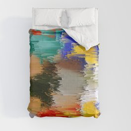 Abstract Glitch Pixel Art 1 Comforters