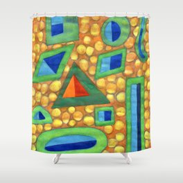 Collection of different Shapes with Double Fillings Shower Curtain