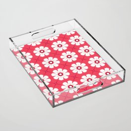 Sun and petals Acrylic Tray