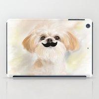 shih tzu iPad Cases featuring Mustache SHIH TZU by Best Friends Furever