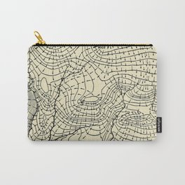 Topography Map Carry-All Pouch