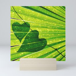 Lush Forest Hearts Mini Art Print