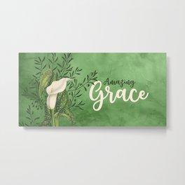 Amazing Grace (green) Metal Print