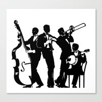 band Canvas Prints featuring Band by David Chestnutt