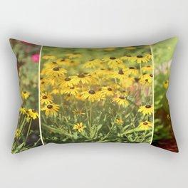 Black Eyed Susans Triptych Rectangular Pillow