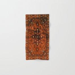 N151 - Orange Oriental Vintage Traditional Moroccan Style Artwork Hand & Bath Towel