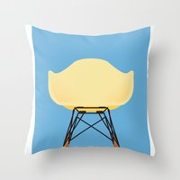 eames Throw Pillows featuring Eames RAR by don't worry be happy