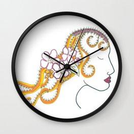 Blossom Girl Wall Clock