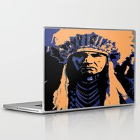 native american Laptop & iPad Skins featuring Native American Head Dress  by T.E.Perry