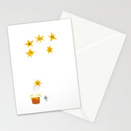 Jumping star Stationery Cards