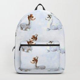 Alpaca in the clouds Backpack