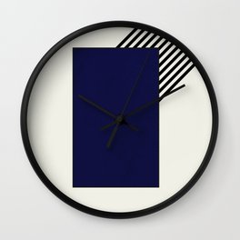 Blue with stripes || Wall Clock