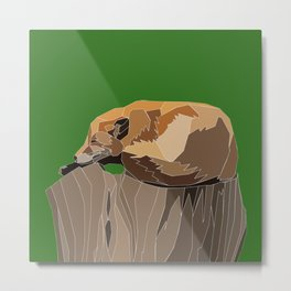 Precarious Snooze Low Poly Metal Print