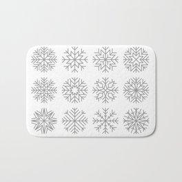 minimalist snow flakes Bath Mat