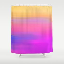 Sunset Hues - Abstract painting Shower Curtain