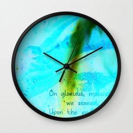 On Soaring Wings Wall Clock