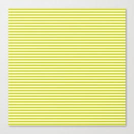 TINY STRIPE ((chartreuse)) Canvas Print
