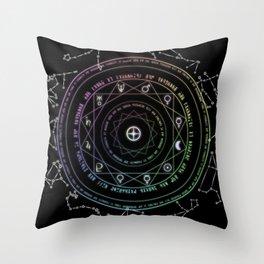 Astrological Magic Circle Throw Pillow