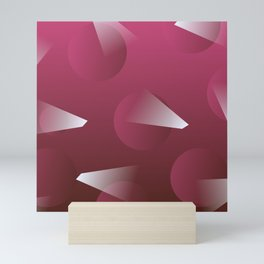 Elegant Pink Mid-Century Abstract Mini Art Print