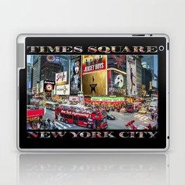 Times Square II (widescreen on black) Laptop & iPad Skin