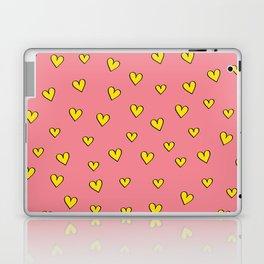 Cute Pink Heart Pattern Laptop & iPad Skin