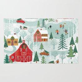 New England Christmas Rug