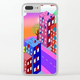 Abstract Urban By Day Clear iPhone Case