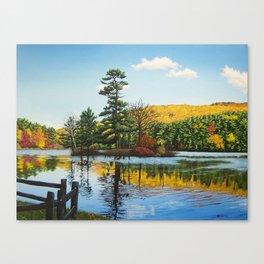 Ivy Island in Autumn Canvas Print