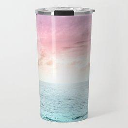 Pastel Beach Sunset Travel Mug