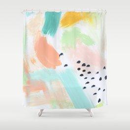 Happy Storm Aqua Shower Curtain