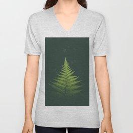 Fern Leaf Green Unisex V-Neck
