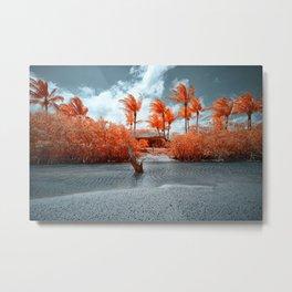 Paradise beach house Metal Print