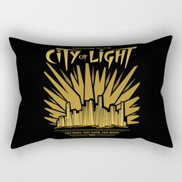 Welcome to the City of Light Rectangular Pillow