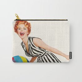 Pin Up Girl and Beach Ball Vintage Art Carry-All Pouch