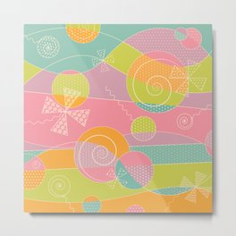 Abstract Pattern - Candyland Metal Print