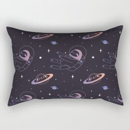 Astro sloth and planet sloth pattern Rectangular Pillow