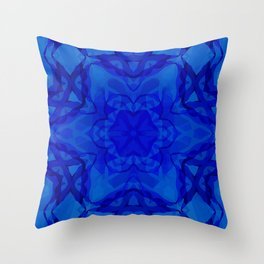 Blue kaleidoscope 2 Throw Pillow
