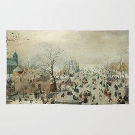 Hendrick Avercamp - Winter Landscape Rug