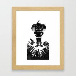Little Bertha Pumpkin Head Framed Art Print