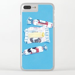 White Rabbit Candy 2 Clear iPhone Case