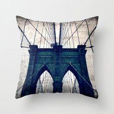 Brooklyn Bridge texture Throw Pillow