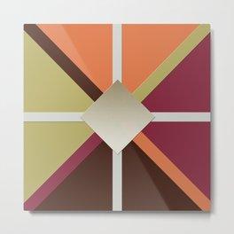 Colors Triangles Metal Print