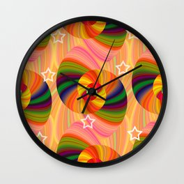 Abstract Swirls and Twirls Wall Clock