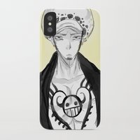 law iPhone & iPod Cases featuring Trafalgar Law by Nada Baker