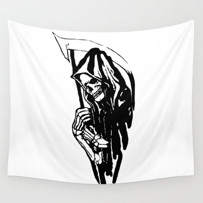 THE GRIM REAPER MR DEATH Wall Tapestry