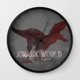 The Park Is Open - Indominus Rex Wall Clock